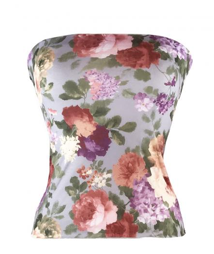 English Bloom Matching Bandeau Top
