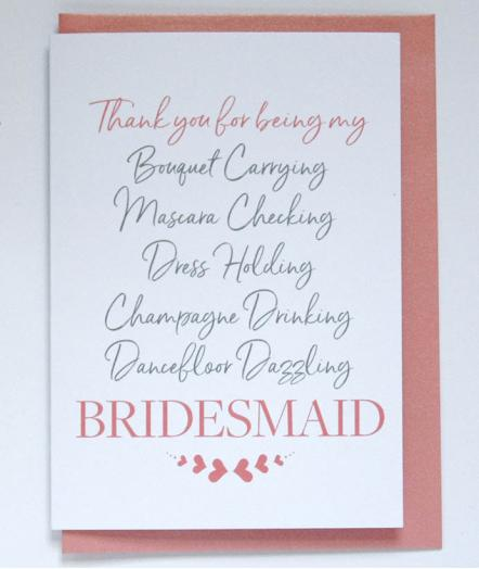 Thank You Card - Bridesmaid