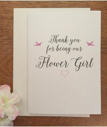 Thank You Card - Flower Girl