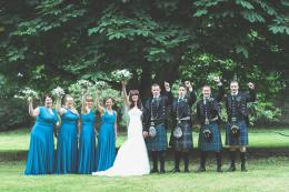 Teal Scottish Wedding