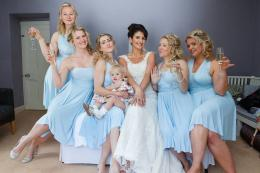 Fun Sky Blue Wedding