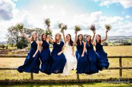 Navy Country Wedding