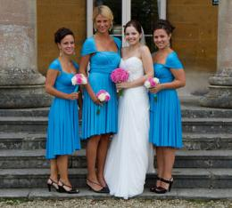 Our very first wedding! Turquoise Bridesmaids