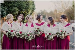 Natalie's Dark Red and Ivory wedding