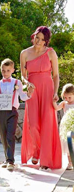 Coral Multiway Maxi Bridesmaid Dress