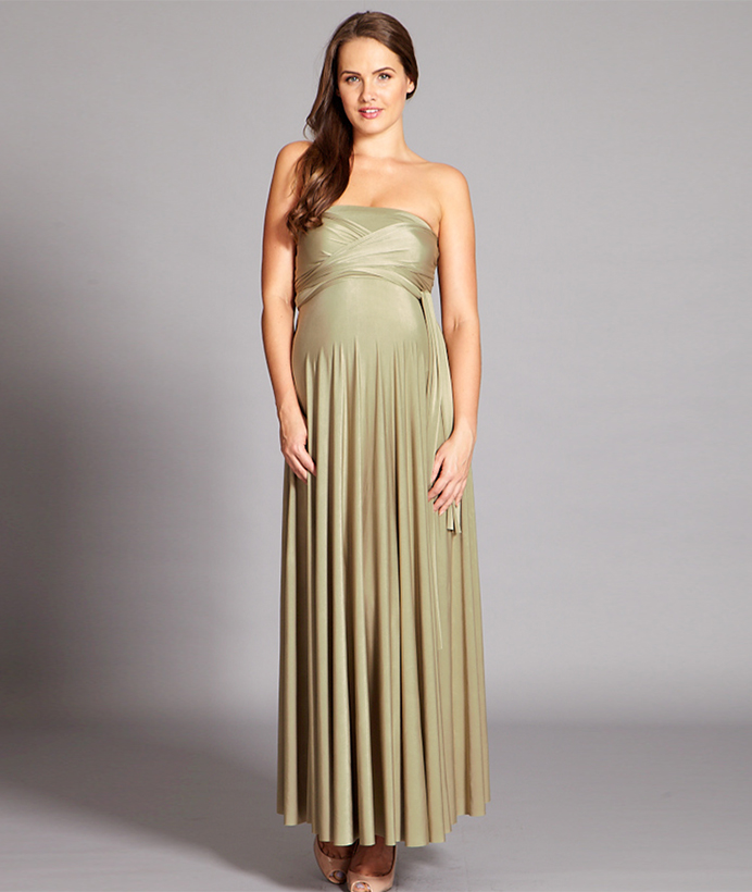 7f12c23a220c1 Maternity Multiway Maxi Dress - In One Clothing