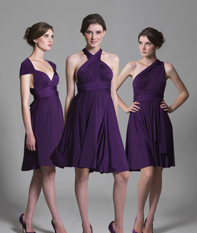 Multiway Knee Length Dress - In One Clothing