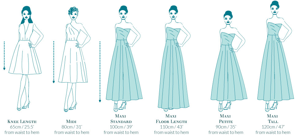 Choose length for Bespoke Bridesmaid dresses